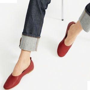 Everlane The Day Glove in Deep Red size 6.5